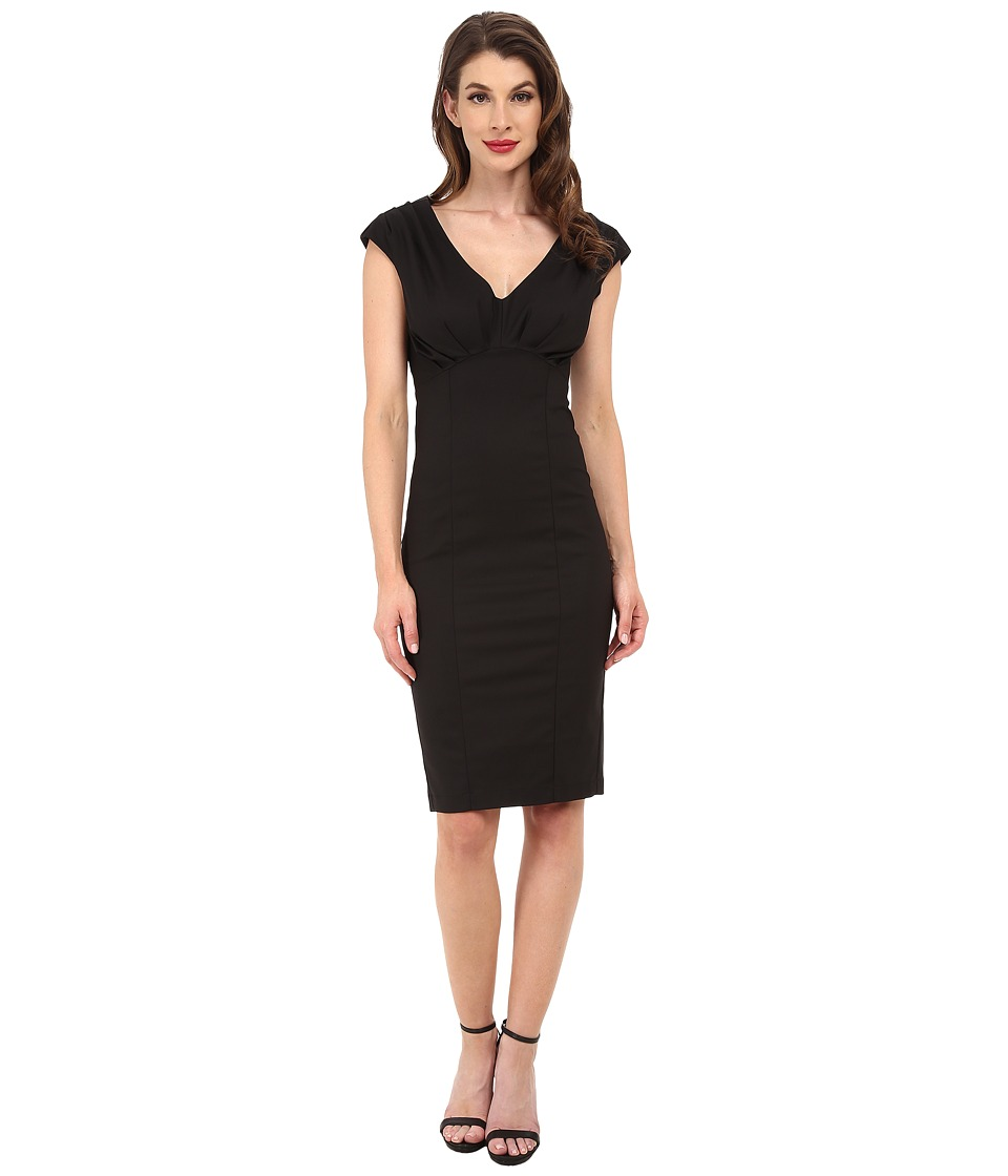Unique Vintage - Bettie Pencil Dress (Black) Women