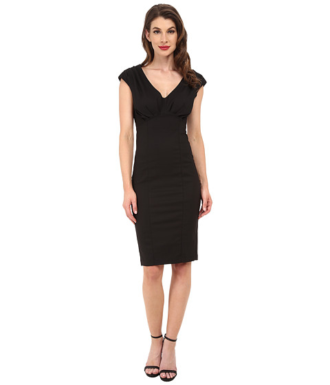 Unique Vintage - Bettie Pencil Dress (Black) Women's Dress