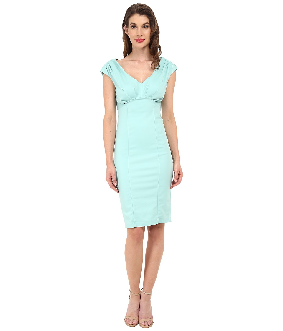 Unique Vintage - Bettie Pencil Dress (Mint Green) Women's Dress