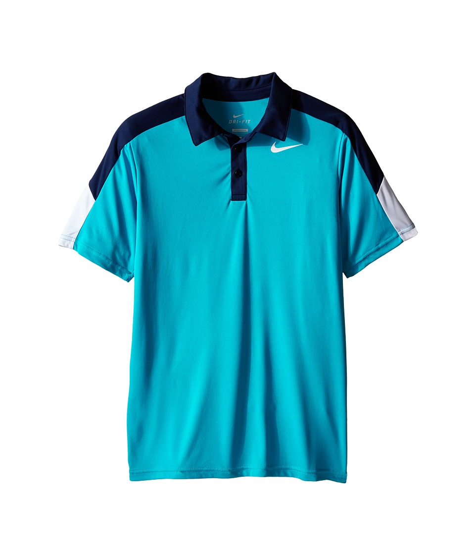 Nike Kids - Team Court Polo (Little Kids/Big Kids) (Blue Lagoon/Midnight Navy/White) Boy