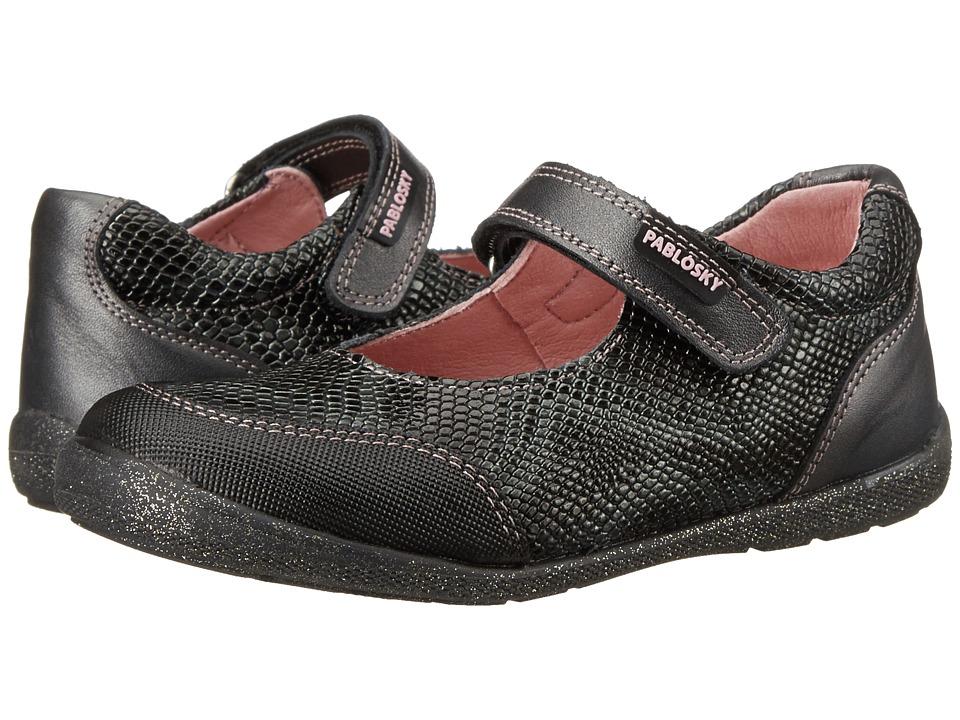 Pablosky Kids - 0744 (Toddler) (Black) Girl's Shoes