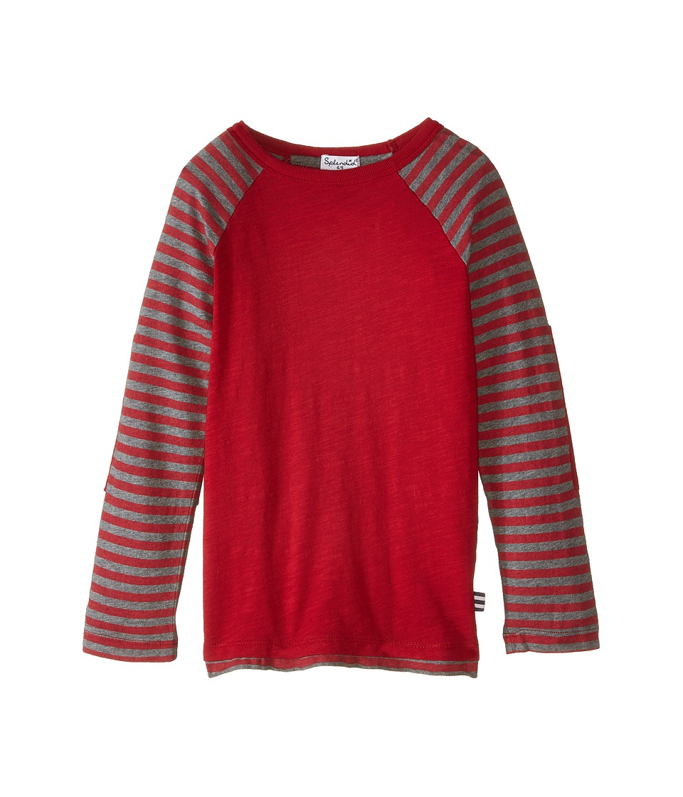 Splendid Littles - Long Sleeve Knit Crew (Little Kids) (Red) Boy's Clothing
