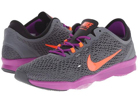Nike - Zoom Fit (Dark Grey/Vivd Purple/Hyper Orange) Women