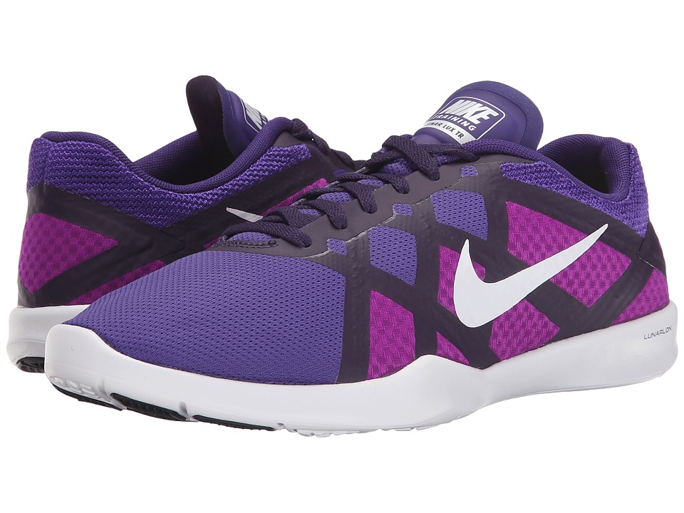 Nike - Lunar Lux TR (Court Purple/Vivd Purple/Volt/White) Women's Cross Training Shoes