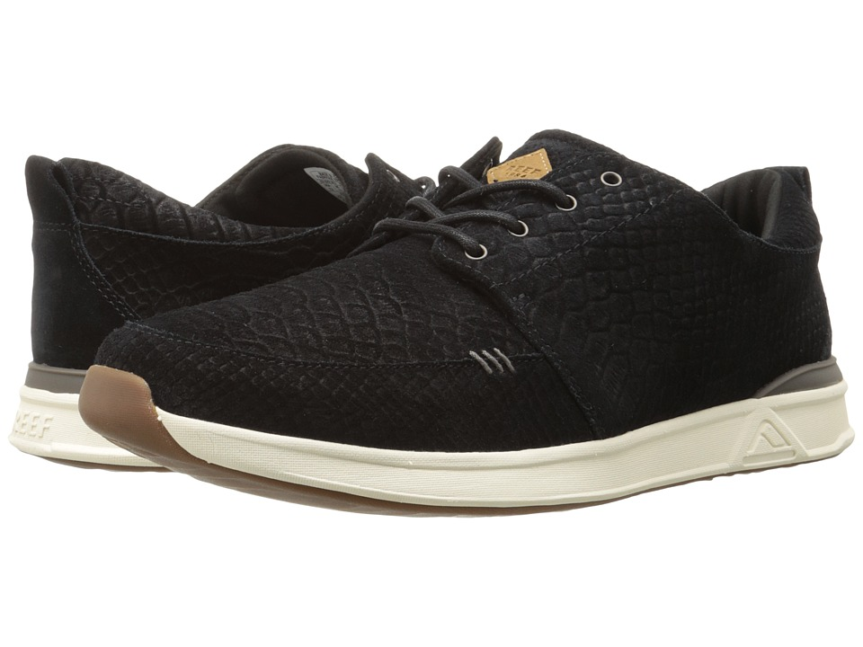 Reef - Rover Low TX (Black/Snake) Men's Shoes