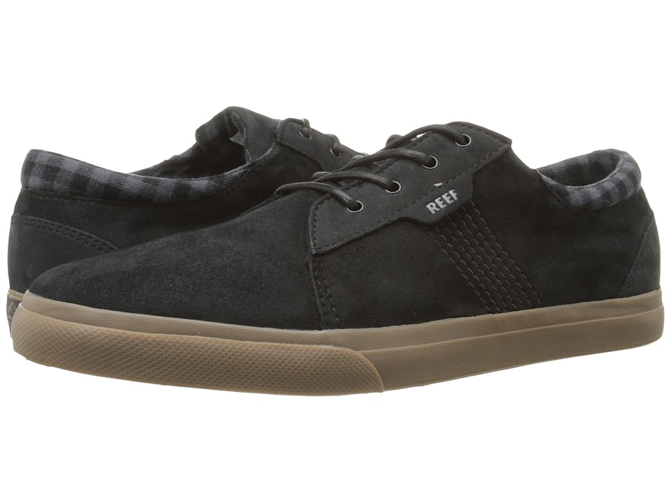 Reef - Ridge LS (Black/Gum) Men's Lace up casual Shoes