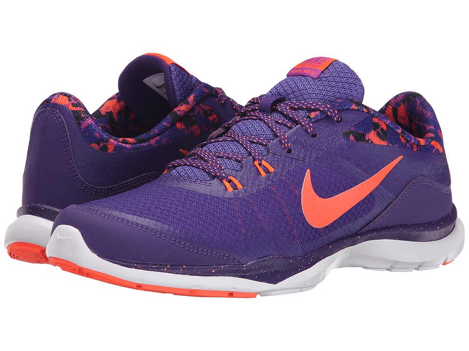 Nike - Flex Trainer 5 Print (Court Purple/Vivid Purple/Black/Hyper Orange) Women's Cross Training Shoes