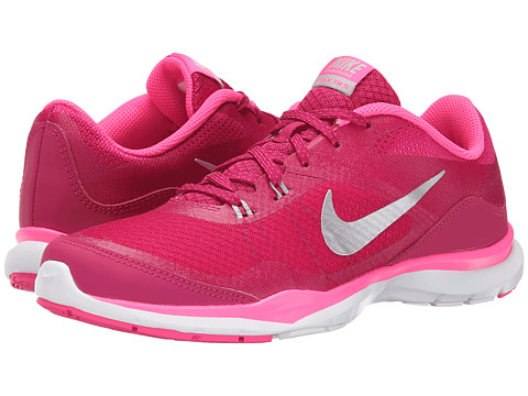 Nike - Flex Trainer 5 (Sport Fuchsia/Pink Pow/Vivid Pink/Metallic Silver) Women's Cross Training Shoes