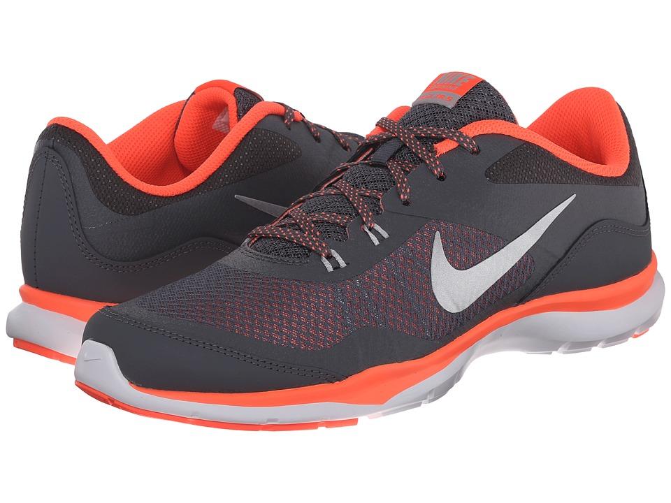 Nike - Flex Trainer 5 (Dark Grey/Hyper Orange/Steath/Metallic Silver) Women