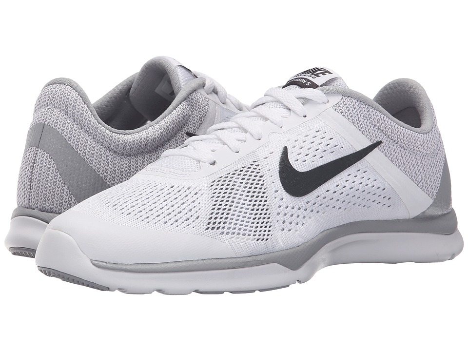 Nike - In-Season TR 5 (White/Wolf Grey/Cool Grey/Dark Grey) Women's Cross Training Shoes