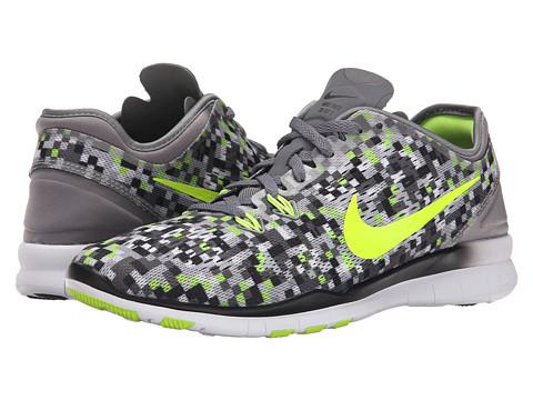Nike - Free 5.0 TR Fit 5 Print (Cool Grey/Volt/Black) Women's Cross Training Shoes