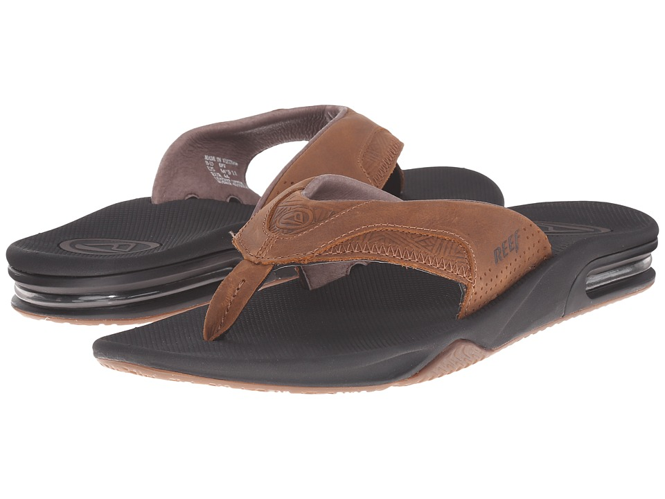 Reef - Fanning Leather (Brown Tweed) Men's Sandals