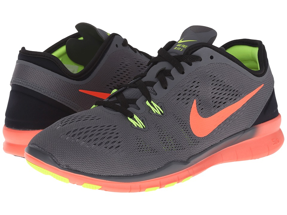 Nike - Free 5.0 TR Fit 5 (Dark Grey/Black/Volt/Hyper Orange) Women's Cross Training Shoes