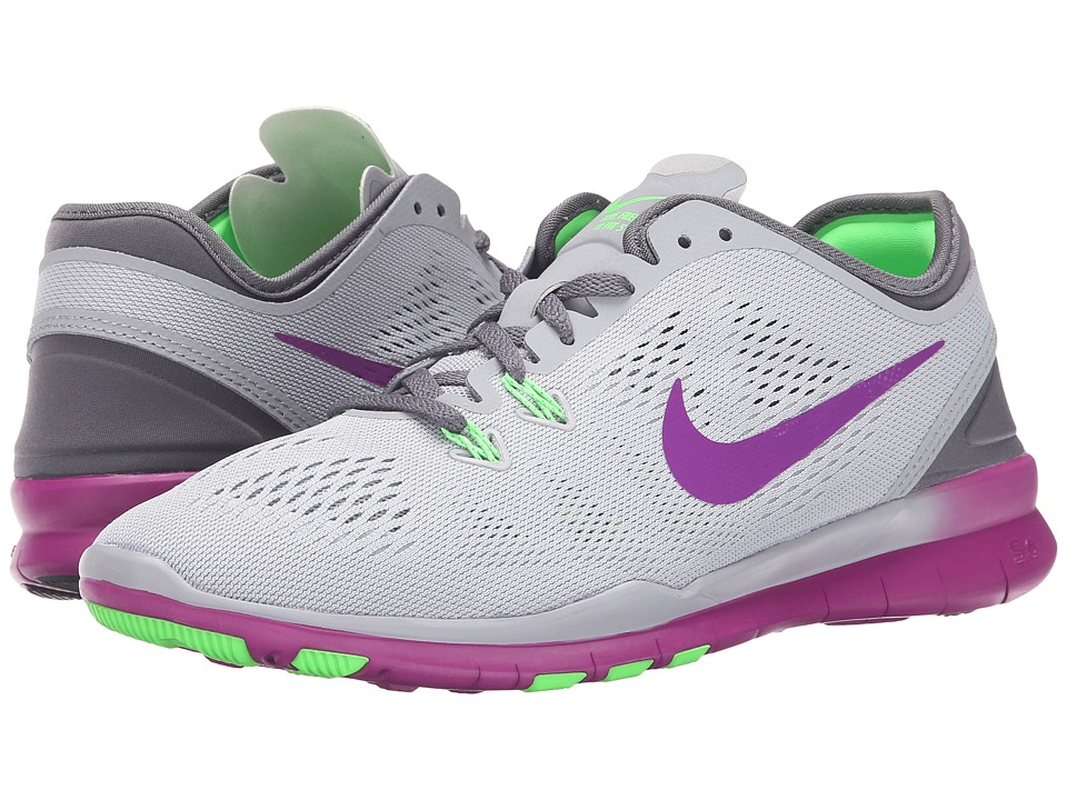 Nike - Free 5.0 TR Fit 5 (Wolf Grey/Voltage Green/Dark Grey/Vivid Purple) Women's Cross Training Shoes