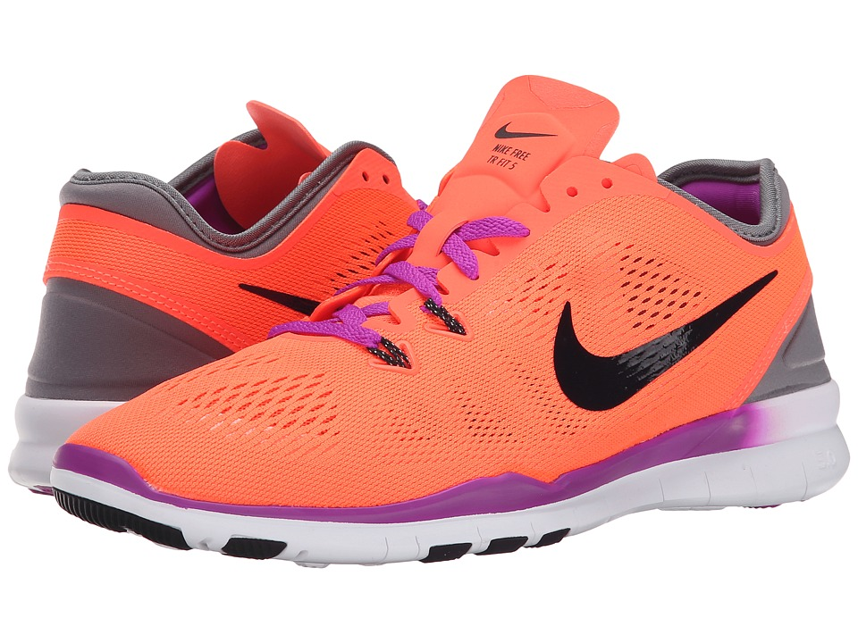 Nike - Free 5.0 TR Fit 5 (Hyper Orange/Cool Grey/Vivid Purple/Black) Women's Cross Training Shoes
