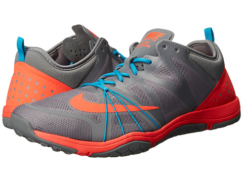 Nike - Free Cross Compete (Cool Grey/Blue Lagoon/Bright Crimson) Women's Cross Training Shoes
