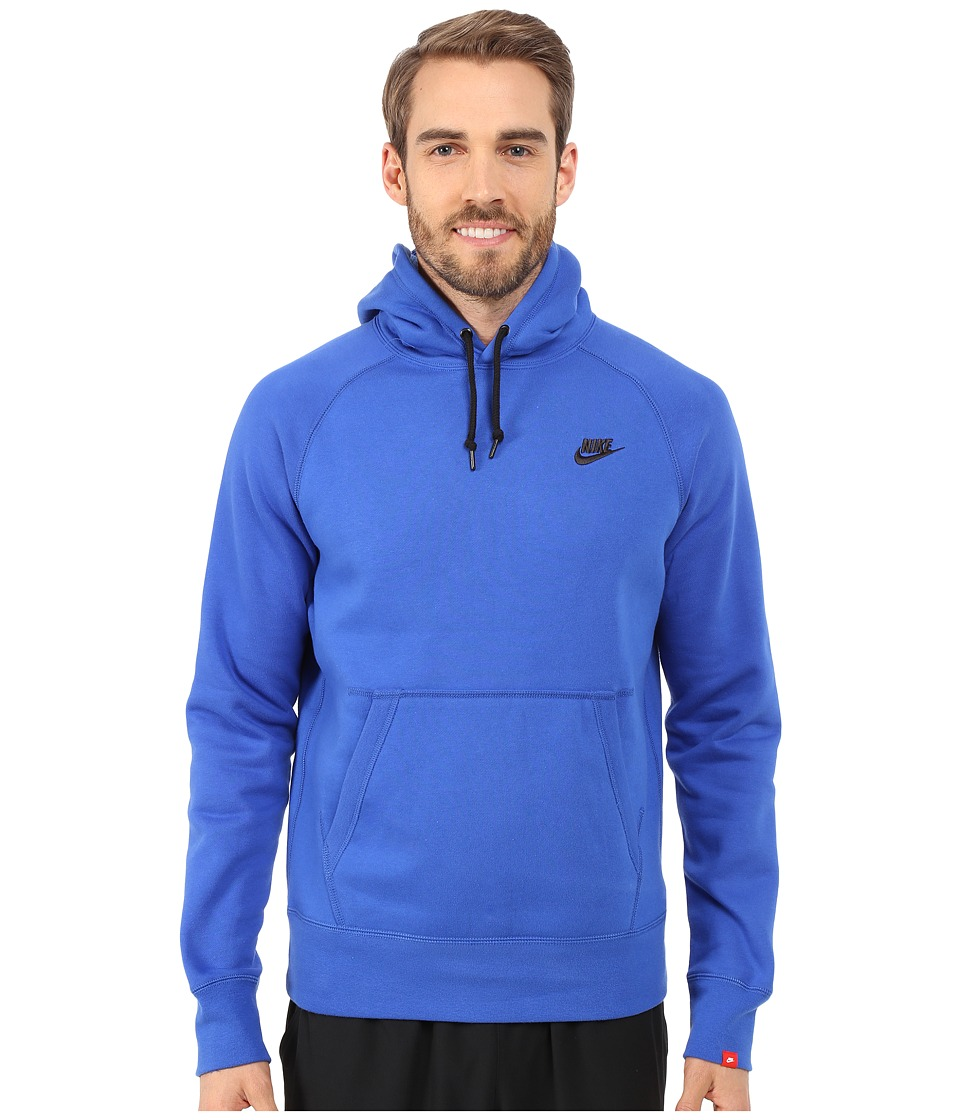 Nike - AW77 Fleece Pullover Hoodie (Game Royal/Black) Men's Sweatshirt