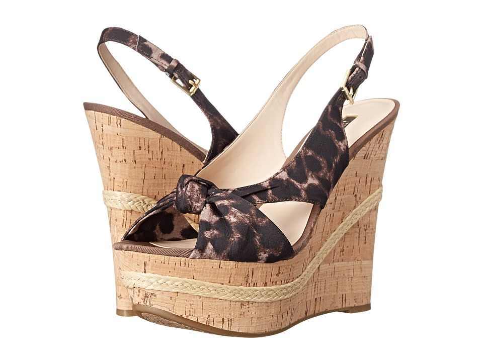 GUESS - Delilan (Leopard Fabric) Women's Wedge Shoes