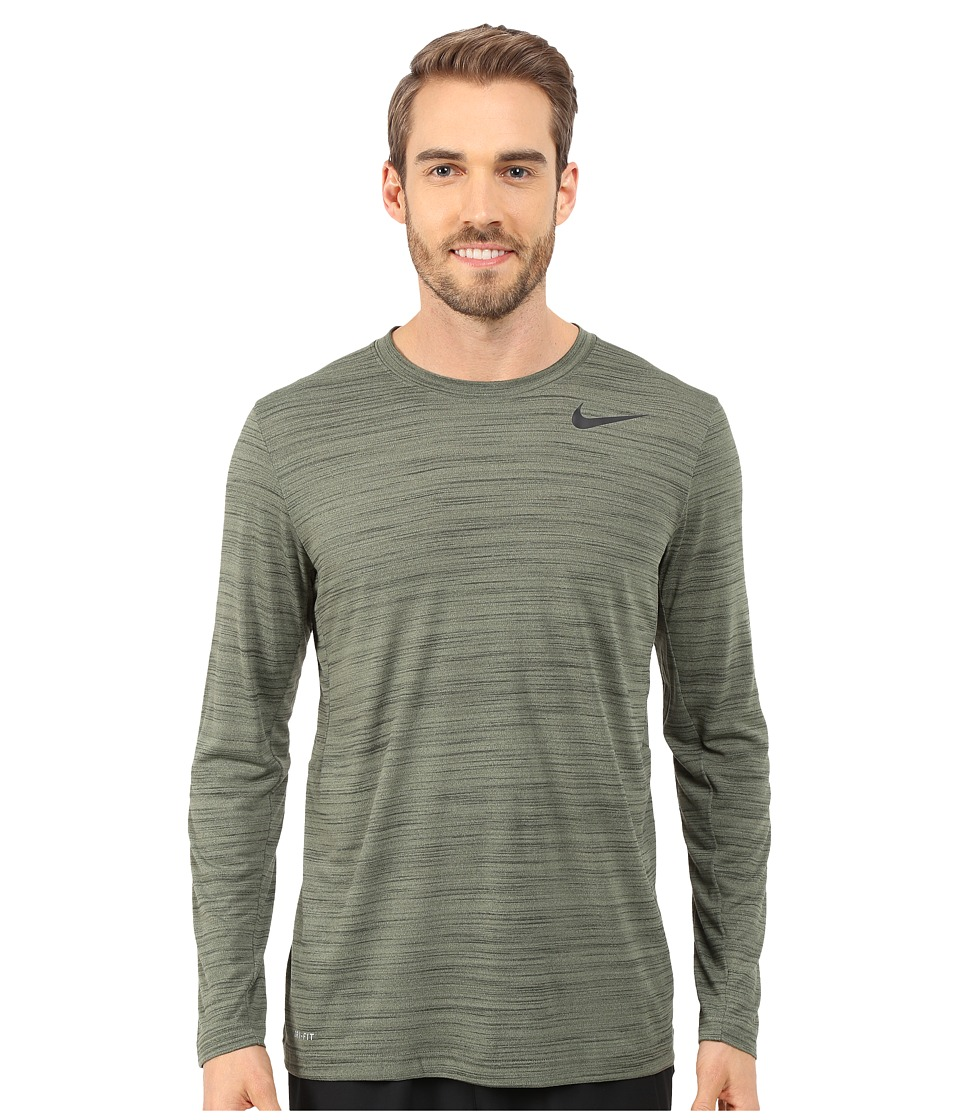 Nike Dri-FIT Touch L/S (Medium Olive/Sequoia/Heather/Black) Men