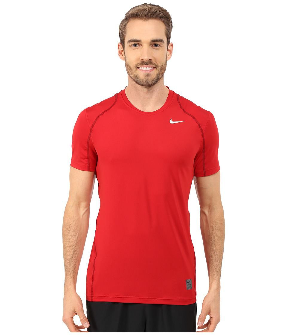 Nike - Pro Short Sleeve Training Top (Gym Red/Team Red/White) Men's Short Sleeve Pullover
