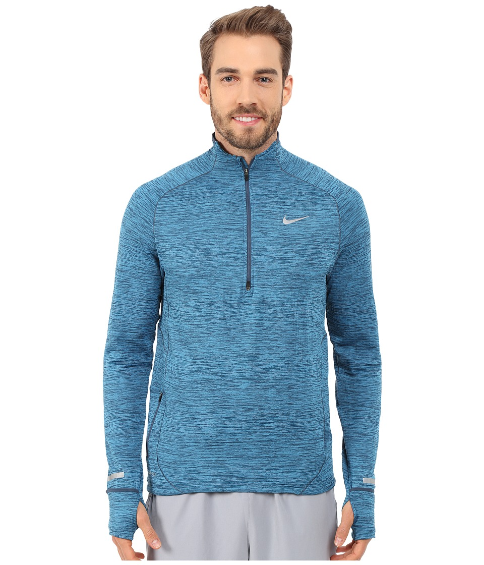Nike - Element Sphere Half-Zip (Squadron Blue/Heather/Reflective Silver) Men's Long Sleeve Pullover