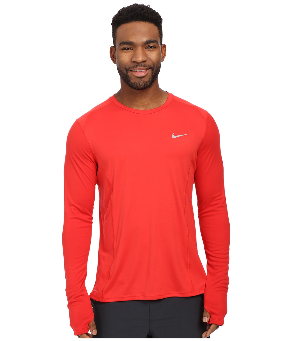 Nike - Dry Miler Long Sleeve Running Top (University Red/Reflective Silver) Men's Workout