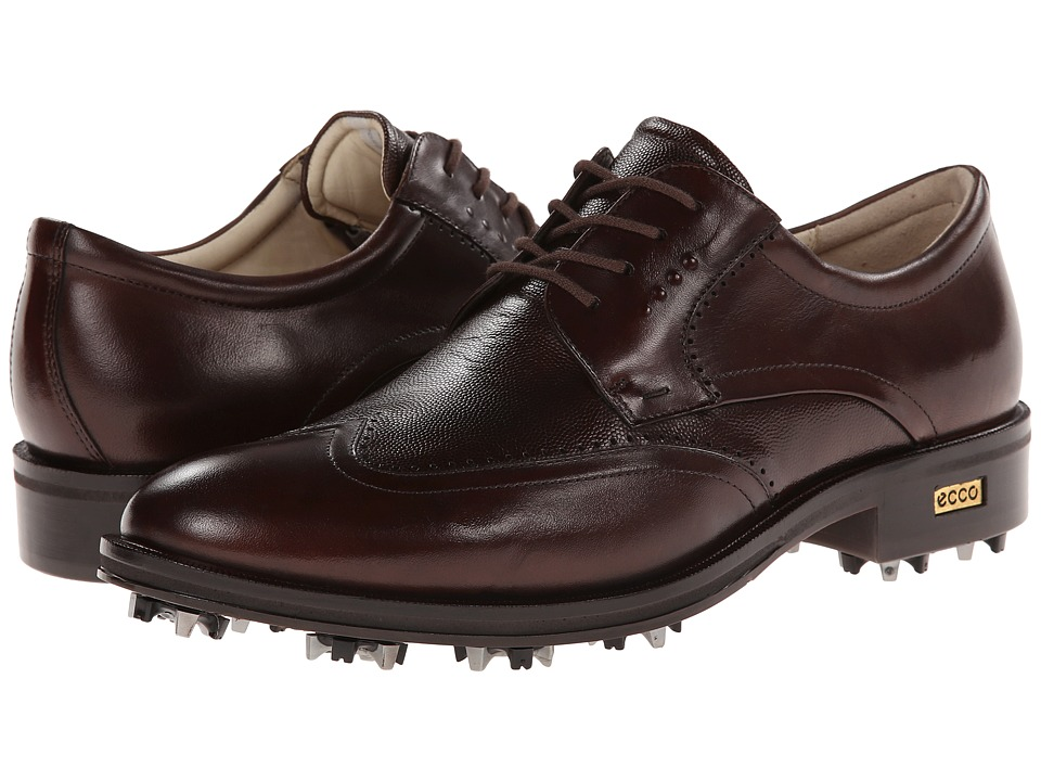 ECCO Golf - Golf New World Class (Cocoa Brown/Cocoa Brown) Men's Golf Shoes