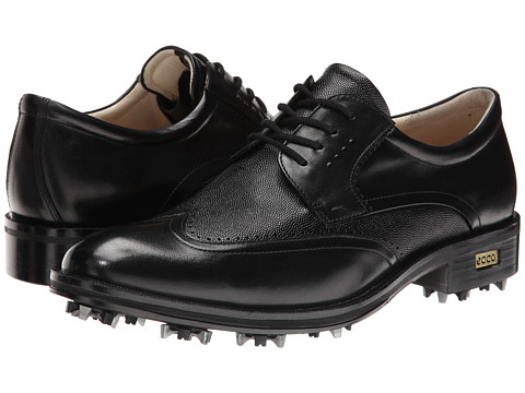 ECCO Golf - Golf New World Class (Black/Black 2) Men's Golf Shoes