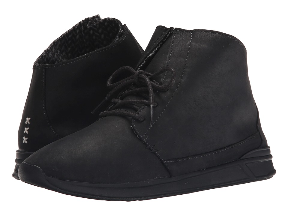 Reef - Rover Hi LS (Black/Black) Women's Lace up casual Shoes