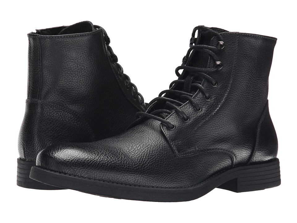 Robert Wayne - Donovan (Textured Black) Men's Lace-up Boots