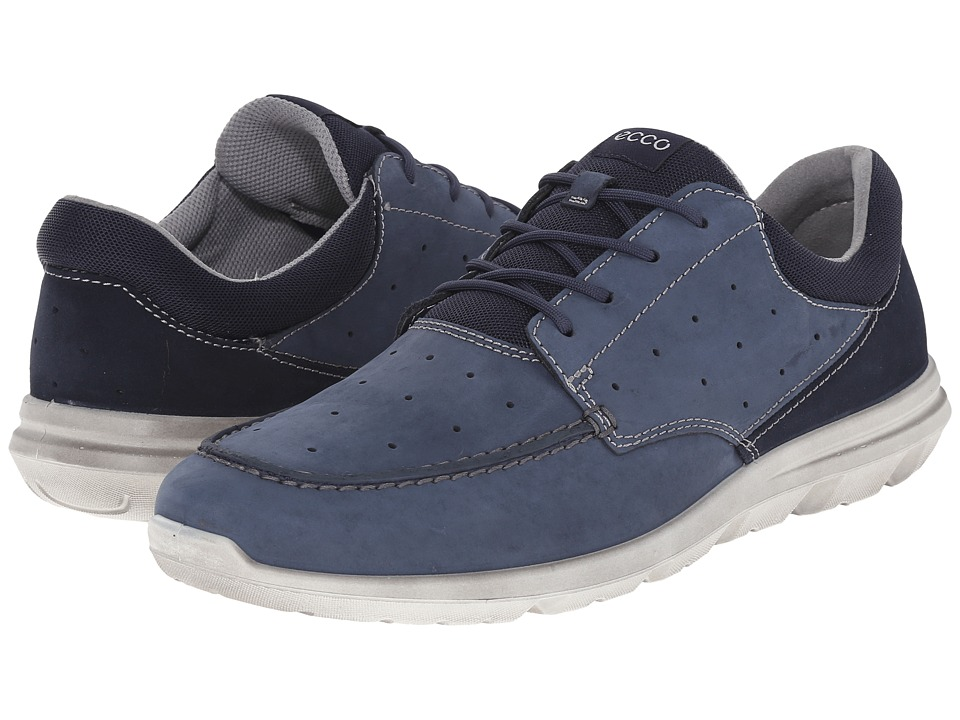 ECCO Sport - Calgary Moc (Marine/Gravel) Men's Lace Up Moc Toe Shoes