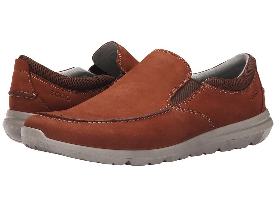 ECCO Sport - Calgary Slip On (Cognac) Men's Slip on Shoes