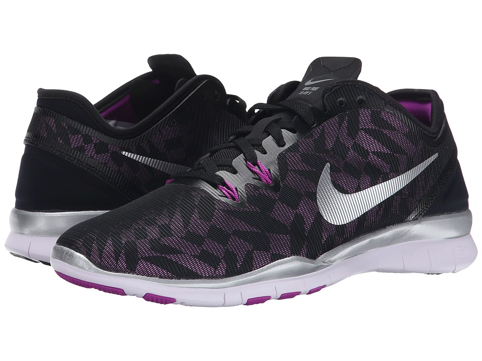 Nike - Free 5.0 TR Fit 5 MTLC (Black/Purple) Women's Cross Training Shoes