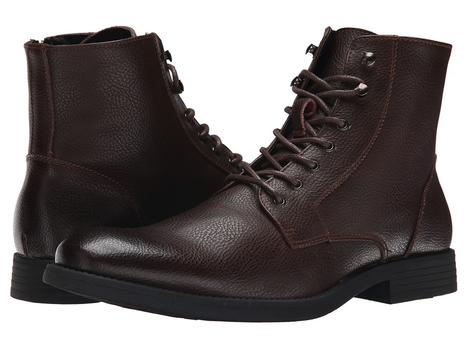 Robert Wayne - Donovan (Textured Brown) Men's Lace-up Boots