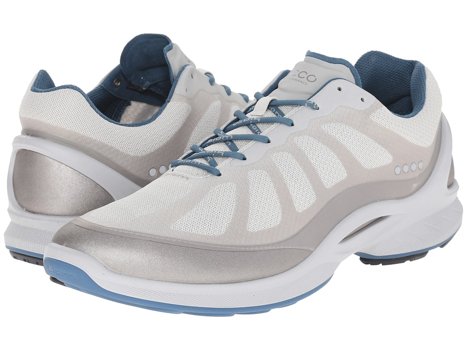ECCO Sport - Biom Fjuel Racer (Silver Metallic/Shark White/Petrol) Men's Lace up casual Shoes