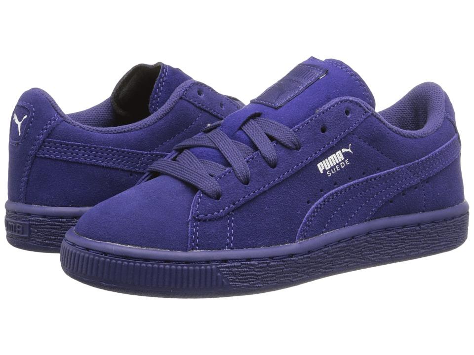 Puma Kids - Suede Jr (Little Kid/Big Kid) (Italian Plum/Puma Silver) Kids Shoes