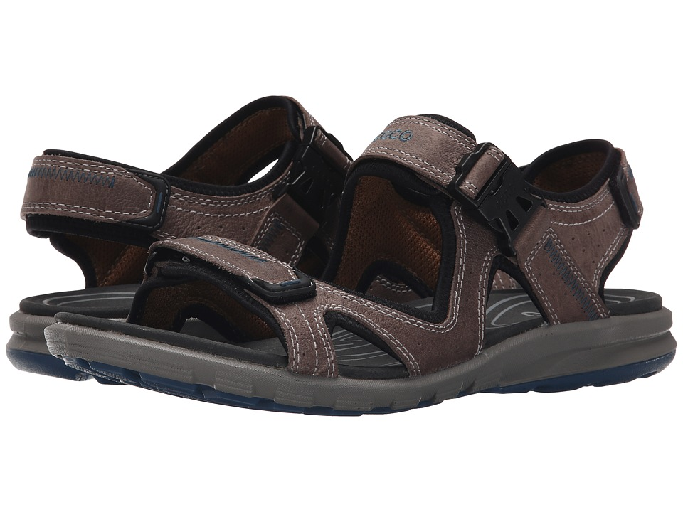 ECCO Sport Cruise Strap Sandal (Moon Rock/Petrol) Men