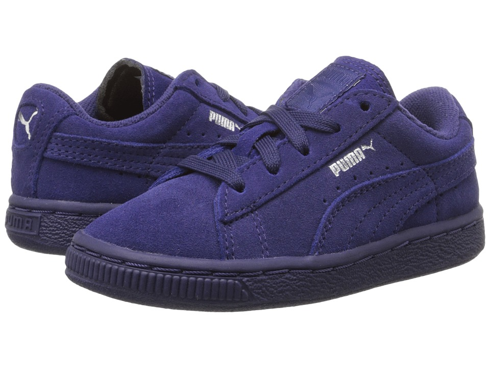 Puma Kids - Suede Classic (Toddler/Little Kid/Big Kid) (Astral Aura/Puma Silver) Kids Shoes