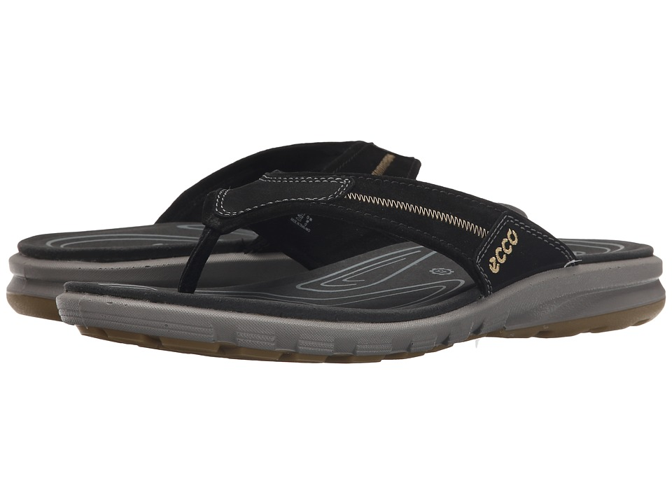 ECCO Sport - Cruise Flip (Black/Black) Men's Sandals