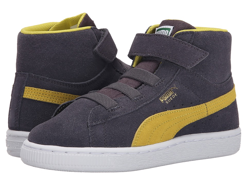 Puma Kids - Suede Classic Mid Jr (Toddler/Little Kid/Big Kid) (Periscope/Blazing Yellow) Boys Shoes