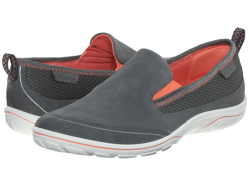 ECCO Sport - Arizona Slip On (Dark Shadow/Coral) Women's Slip on Shoes