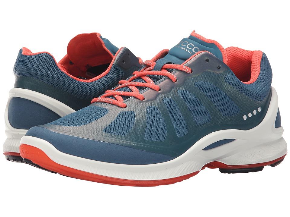 ECCO Sport - Biom Fjuel Racer (Petrol/Petrol/Coral Blush) Women's Shoes