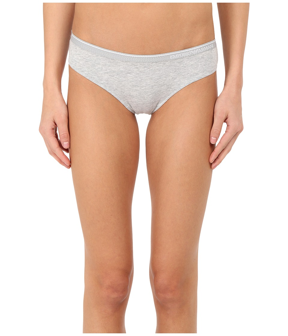 Emporio Armani - Essential Stretch Cotton Brief (Grey Melange) Women