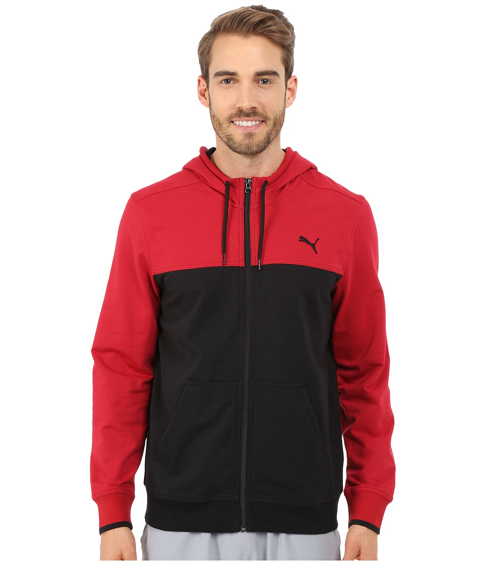 PUMA - Full Zip Lightweight Hoodie (Black Scooter) Men's Sweatshirt