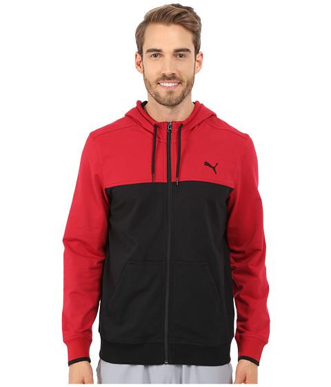PUMA - Full Zip Lightweight Hoodie (Black Scooter) Men's Sweatshirt