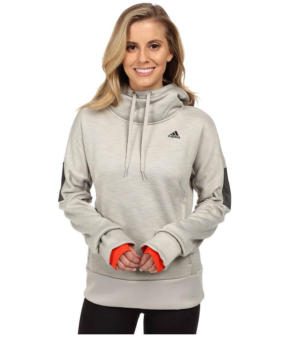 adidas - Beyond The Run Climaheat Pullover Hoodie (Heat Sesame Melange/Bold Orange) Women