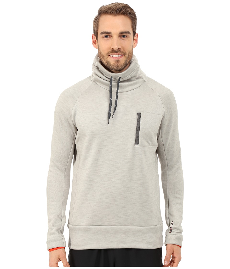adidas - Climaheat High Neck Pullover Top (Heat Sesame Melange) Men's Long Sleeve Pullover