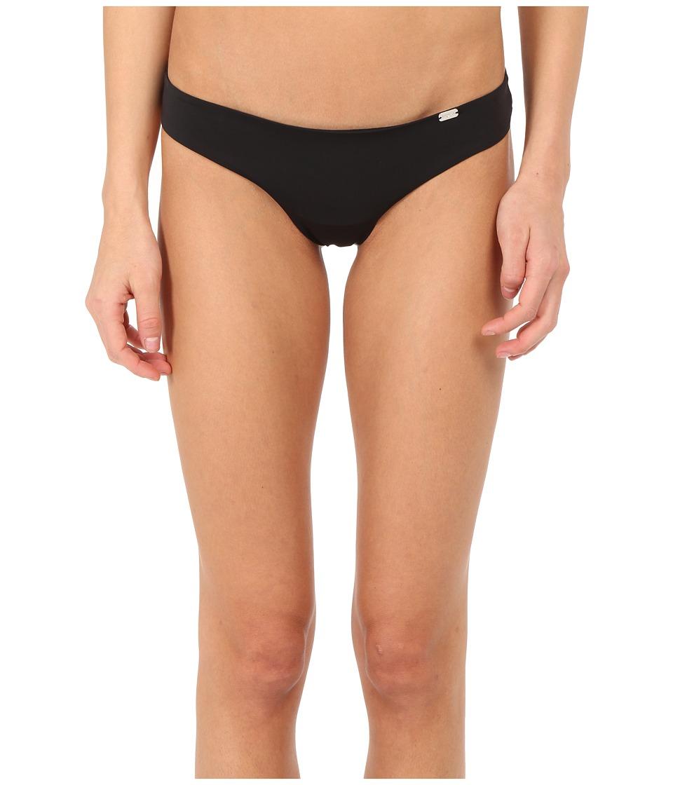 Emporio Armani - Sophisticated Microfiber Thong (Black) Women's Underwear