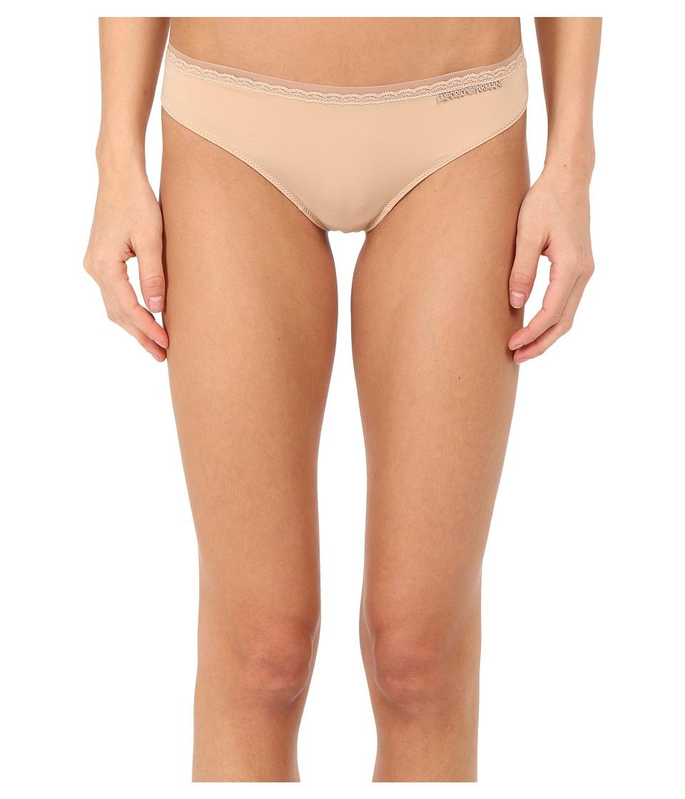 Emporio Armani - Classic Lace Brasilian Brief (Nude) Women's Underwear