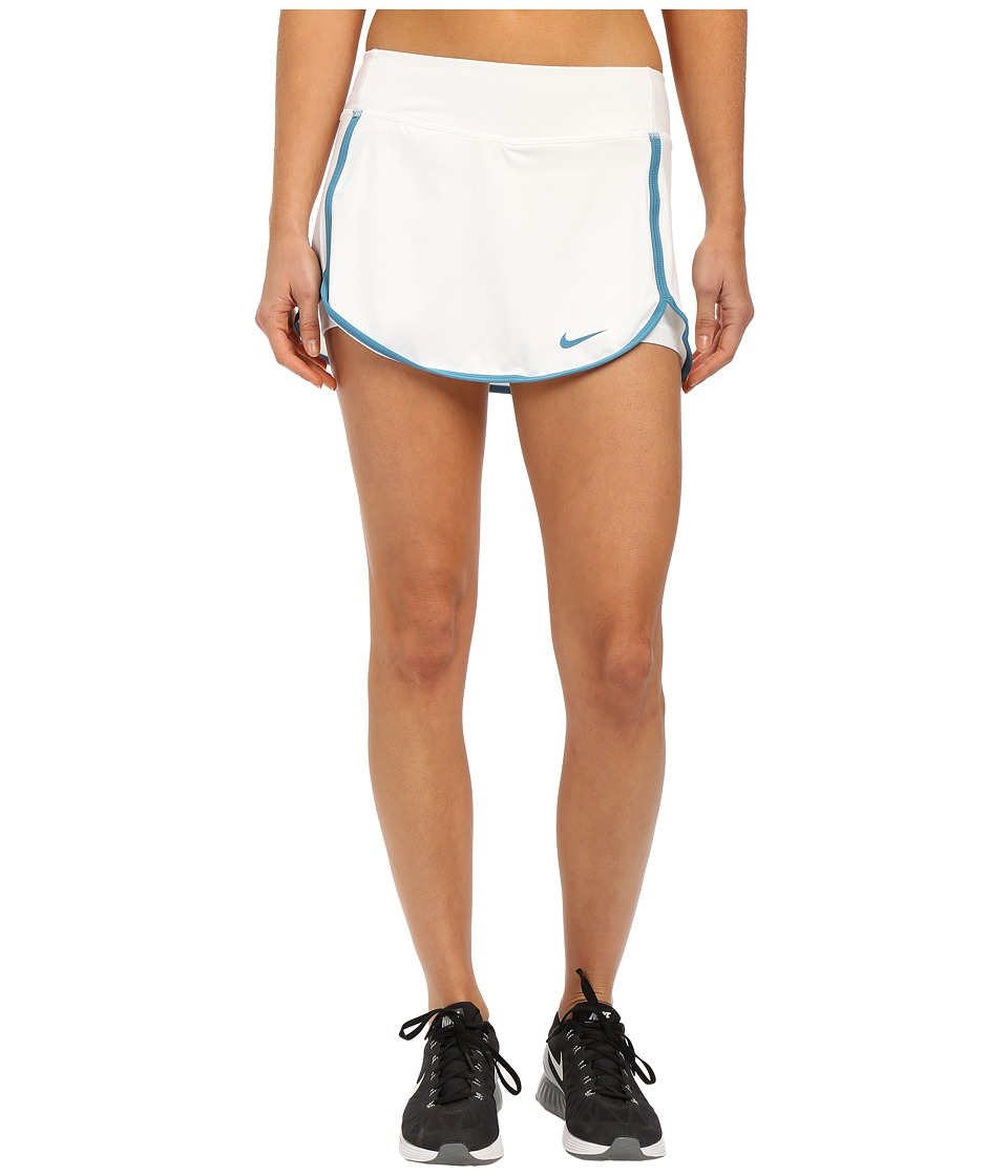 Nike - Straight Court Skirt (White/Stratus Blue) Women's Skirt